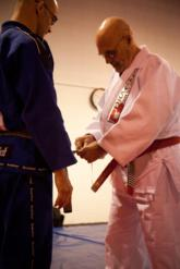 Prof. Pedro Sierra is promoted to 2nd degree black belt by Grand Master Flavio Behring